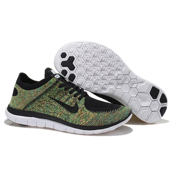 online store 68fcc 93018 Nike 4.0 flyknit gym shoes green